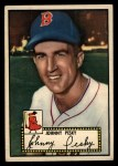 1952 Topps #15 BLK Johnny Pesky  Front Thumbnail