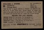 1952 Bowman Large #88  Billy Stone  Back Thumbnail