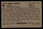 1952 Bowman Large #80  John Blount  Back Thumbnail