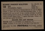 1952 Bowman Large #138  Bob Walston  Back Thumbnail