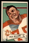 1952 Bowman Large #121  Fred Williams  Front Thumbnail