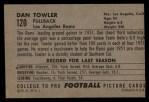 1952 Bowman Large #120  Dan Towler  Back Thumbnail