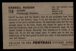 1952 Bowman Large #118  Darrell Hogan  Back Thumbnail