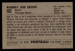 1952 Bowman Large #102  Robert Joe Cross  Back Thumbnail