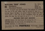 1952 Bowman Large #86  Dub Jones  Back Thumbnail