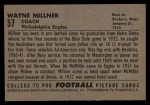 1952 Bowman Large #57  Wayne Millner  Back Thumbnail