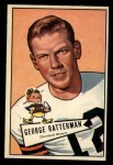 1952 Bowman Large #111  George Ratterman  Front Thumbnail