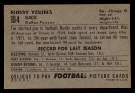 1952 Bowman Large #104  Buddy Young  Back Thumbnail