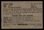 1952 Bowman Large #103  Don Paul  Back Thumbnail