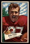 1952 Bowman Large #103  Don Paul  Front Thumbnail
