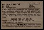 1952 Bowman Large #60  Ed McColl  Back Thumbnail
