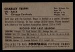 1952 Bowman Large #12  Charley Trippi  Back Thumbnail