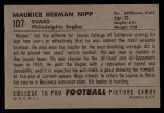 1952 Bowman Large #107  Maurice Nipp  Back Thumbnail