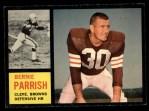 1962 Topps #34  Bernie Parrish  Front Thumbnail