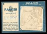 1961 Topps #6  Jim Parker  Back Thumbnail