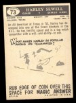 1959 Topps #73  Harley Sewell  Back Thumbnail