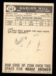 1959 Topps #167  Harlon Hill  Back Thumbnail