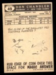 1959 Topps #49  Don Chandler  Back Thumbnail