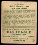 1933 Goudey #41  Gus Mancuso  Back Thumbnail