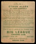 1933 Goudey #46  Ethan Allen  Back Thumbnail