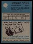 1964 Philadelphia #25  Roosevelt Taylor  Back Thumbnail