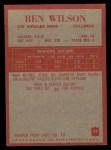 1965 Philadelphia #97  Ben Wilson   Back Thumbnail