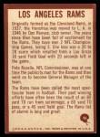 1967 Philadelphia #96   Los Angeles Rams Logo Back Thumbnail