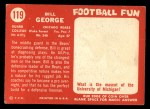 1958 Topps #119  Bill George  Back Thumbnail