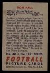 1951 Bowman #30  Don Paul  Back Thumbnail