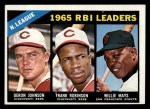 1966 Topps #219   -  Deron Johnson / Willie Mays / Frank Robinson NL RBI Leaders Front Thumbnail