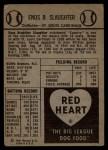 1954 Red Heart  Enos Slaughter  Back Thumbnail