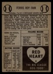 1954 Red Heart #7  Ferris Fain     Back Thumbnail