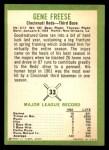 1963 Fleer #33  Gene Freese  Back Thumbnail