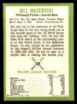 1963 Fleer #59  Bill Mazeroski  Back Thumbnail