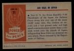 1954 Bowman Power for Peace #71   Air Vigil in Japan Back Thumbnail
