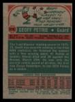 1973 Topps #175  Geoff Petrie  Back Thumbnail