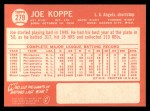 1964 Topps #279  Joe Koppe  Back Thumbnail