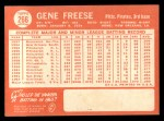 1964 Topps #266  Gene Freese  Back Thumbnail