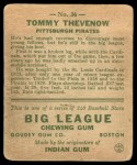 1933 Goudey #36  Tommy Thevenow  Back Thumbnail