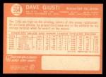 1964 Topps #354  Dave Giusti  Back Thumbnail