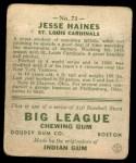 1933 Goudey #73  Jesse Haines  Back Thumbnail