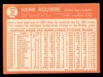 1964 Topps #39  Hank Aguirre  Back Thumbnail