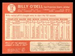 1964 Topps #18  Billy O'Dell  Back Thumbnail