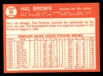 1964 Topps #56  Hal Brown  Back Thumbnail