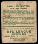 1933 Goudey #156  Danny MacFayden  Back Thumbnail