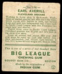 1933 Goudey #194  Earl Averill  Back Thumbnail