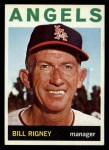 1964 Topps #383  Bill Rigney  Front Thumbnail