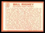 1964 Topps #383  Bill Rigney  Back Thumbnail