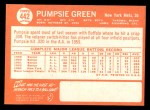 1964 Topps #442  Pumpsie Green  Back Thumbnail