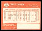 1964 Topps #421  Camilo Carreon  Back Thumbnail